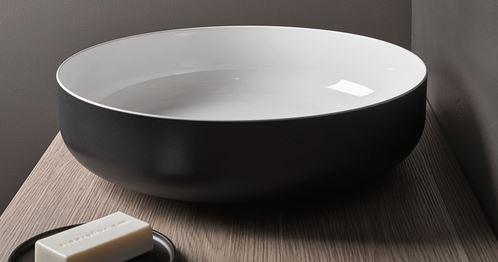 リラインス【AB.SO450.1-BC】アラペ 置き型手洗器 (手洗器本体のみ)