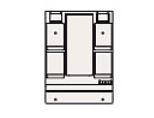 ###クリナップ ミラーキャビネット【M-H751GAKH】BGAシリーズ 1面鏡 くもり止めヒーター有り 蛍光ランプ 間口75cm