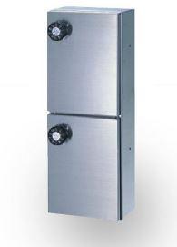 ####u.田島メタルワーク【PX-2-2H(myナンバー錠)】多目的小型ボックス パーソナルボックス 薄型、後付タイプ 受注生産