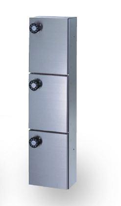 ####u.田島メタルワーク【PX-2-3H(myナンバー錠)】多目的小型ボックス パーソナルボックス 薄型、後付タイプ 受注生産