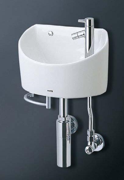 TOTO 壁掛手洗器(丸型)【LSH90BAPT】(ボトルトラップ)タオルバー付