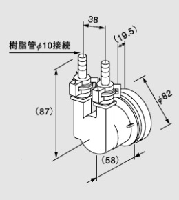 ♪ノーリツ 関連部材【0705094】循環アダプターHX-J 20P