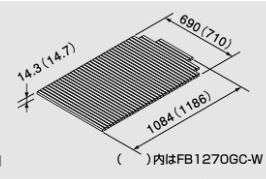 ?ノーリツバスイング(GTS)専用部材【0918225】シャッターフタFB1270GC-W(1200mmタイプ用)