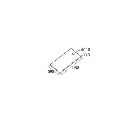 ###TOTO【AB612E1】ハイドロセラ・フロアPC 600×1200角 平 厚み11.3mm (穴加工φ110) 床排水心200φ110mm
