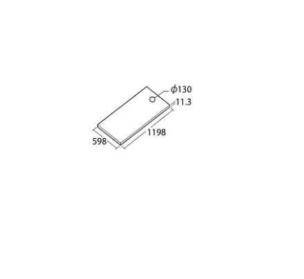###TOTO【AB612E2】ハイドロセラ・フロアPC 600×1200角 平 厚み11.3mm (穴加工φ130) 床排水心200φ130mm
