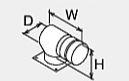 ###♪パーパス 排気部材【HA-100L】排気アダプター(上方L型)