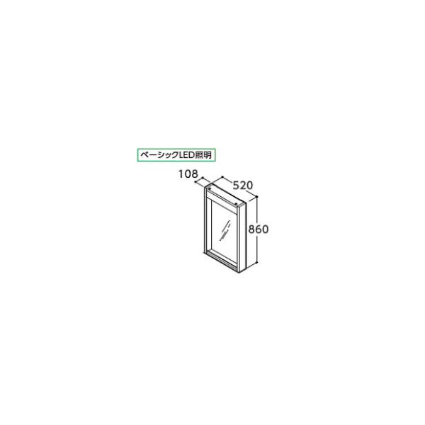 ###TOTO 化粧鏡【LMD520E】モデアシリーズ ウッドフレームタイプ ベーシックLED照明 間口520 受注約1週