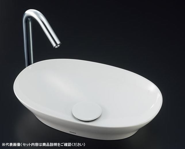 ###TOTO セット品番【LS901#NW1+TLC11C2】カウンター式手洗器 ベッセル式 ホワイト 立水栓 壁排水金具(Pトラップ)