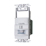 ###パナソニック 配線金具【WTK18115WK】コスモシリーズワイド21[壁取付]熱線センサ付自動スイッチ 2線式・3路配線対応形 LED専用 ホワイト