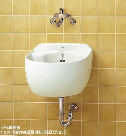 2019年4月発売予定###TOTO セット品番【SK507+TKS05311J】洗濯用流し(大形) 壁付シングル混合水栓 床排水金具(Sトラップ)