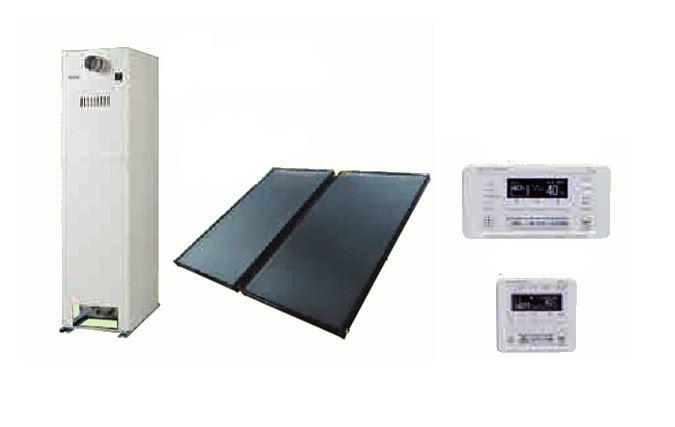 ###♪パーパス【SPCTU-TP03】太陽熱利用ガス温水システム 屋外据置形 SORAMO(ソラモ) 給湯器一体型 設置フリー フルオート 24号 貯湯量180L