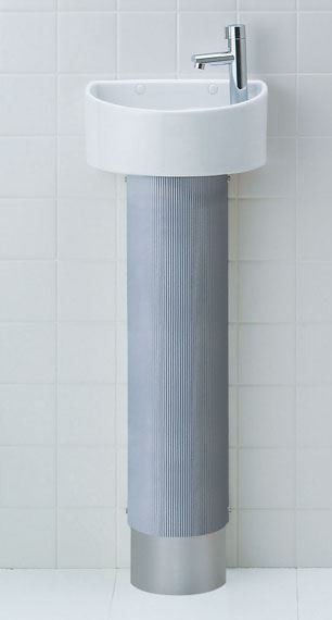 INAX/LIXIL【YL-C33DHB(Y)】狭小手洗器(トラップカバータイプ) アクアセラミック 床給水・床排水 内面平滑排水管仕様