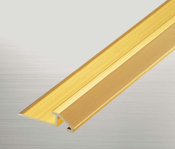 ####u.アシスト/Assist【20-421 (3.64m)】床金物 タイルカーペット・カーペット見切り 真鍮ディバイドエッジ 真鍮製 穴有 磨き仕上げ