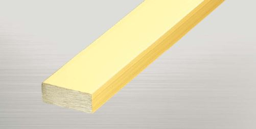 ####u.アシスト/Assist【20-6215-2 (4m)】床金物 フラットバー 真鍮製 穴有 磨き仕上げ