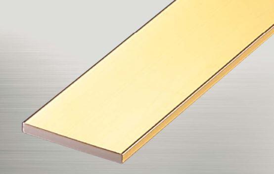 ####u.アシスト/Assist【20-624-2 (4m)】床金物 フラットバー 真鍮製 穴有 磨き仕上げ