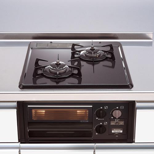 ###マイセット 関連器具【DG2015SQ1】調理器具 2口・グリル付ガスコンロ
