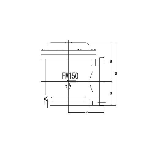 FMバルブ製作所【FMバルブ 1型 150A】(アングル型) 定水位弁 取付タイプ(フランジ型) 本体材質:CAC901