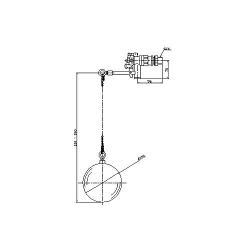FMバルブ製作所【FMバルブ用副弁(ボールタップ) FM-20SL 20A】フロート(ステンレス製) 本体材質:CAC902