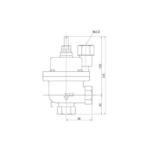 FMバルブ製作所【FMバルブ 3型 20A】(アングル型) 定水位弁 スクリーンバルブSV 取付タイプ(ねじ込み型(Rc)) 本体材質:CAC901