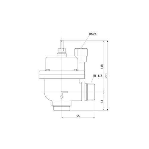 FMバルブ製作所【FMバルブ 3型 40A】(アングル型) 定水位弁 取付タイプ(ねじ込み型(R)) 本体材質:CAC901