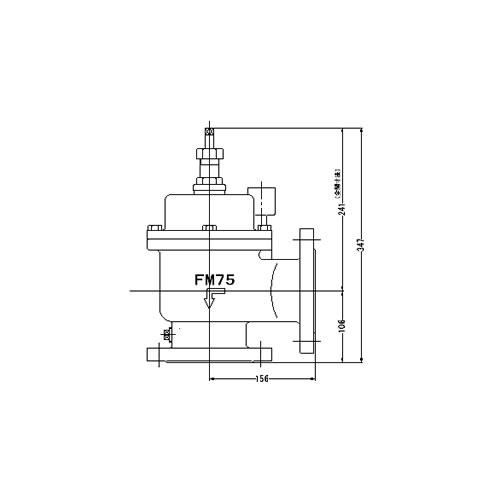 FMバルブ製作所【FMバルブ 3型 75A】(アングル型) 定水位弁 取付タイプ(フランジ型) 本体材質:CAC901