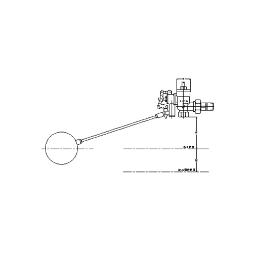 FMバルブ製作所【FM貯水槽用ボールタップ 3FB一体型 20A】スクリーンバルブSV 取付タイプ(ねじ込み型(R)) 本体材質:CAC901