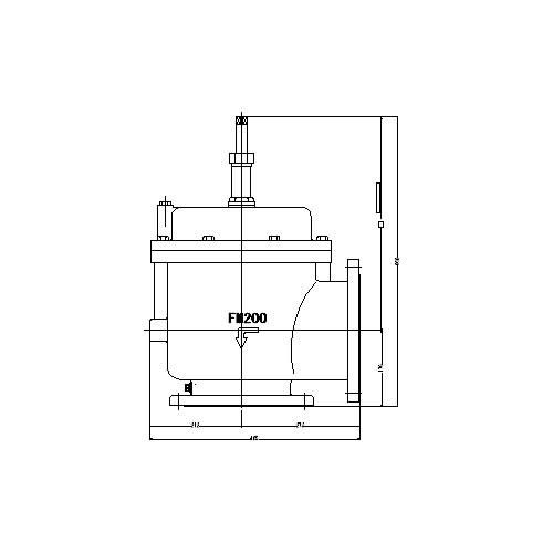 FMバルブ製作所【FMバルブ 3L型 200A】(アングル型) 定水位弁 取付タイプ(フランジ型) 本体材質:CAC901