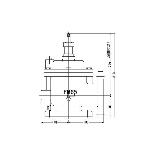 【GINGER掲載商品】 取付タイプ(フランジ型) 本体材質:CAC901:クローバー資材館 定水位弁 65A】(アングル型) 3L型 FMバルブ製作所【FMバルブ-木材・建築資材・設備