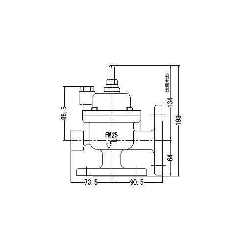 FMバルブ製作所【FMバルブ 3L-F型 25A】(アングル型) 定水位弁 取付タイプ(フランジ型) 本体材質:CAC901