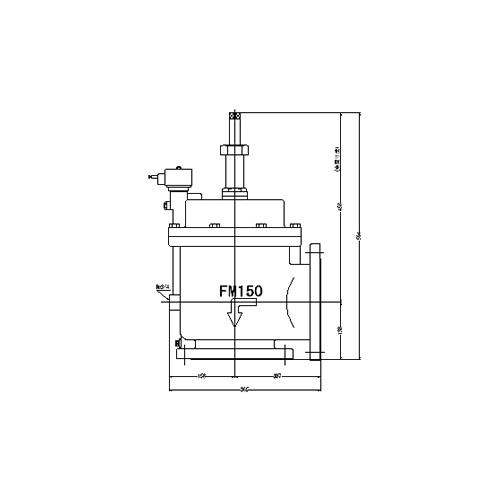 FMバルブ製作所【FMユニットバルブ A-2型 150A】(アングル型) 電磁弁一体型定水位弁 取付タイプ(通電「開」AC100/200V共用 フランジ型) 本体材質:CAC901