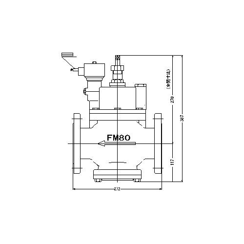 FMバルブ製作所【FMユニットバルブ S-2-2型 80(75)A】(ストレート型) 電磁弁一体型定水位弁 取付タイプ(通電「開」AC100/200V共用 フランジ型) 本体材質:CAC901