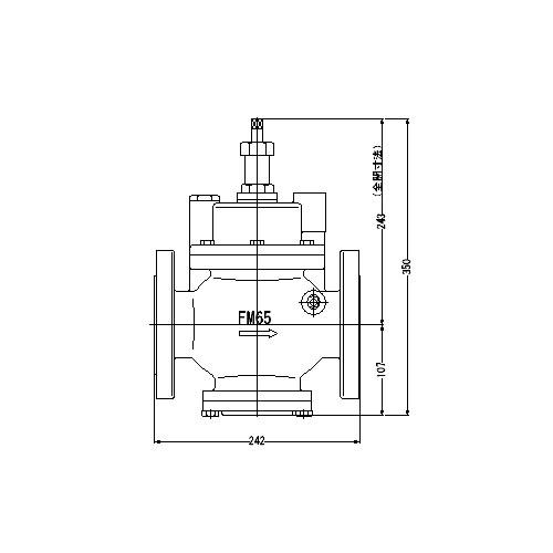 感謝の声続々! 定水位弁 S-3型 取付タイプ(フランジ型) 65A】(ストレート型) FMバルブ製作所【FMバルブ 本体材質:CAC901:クローバー資材館-木材・建築資材・設備