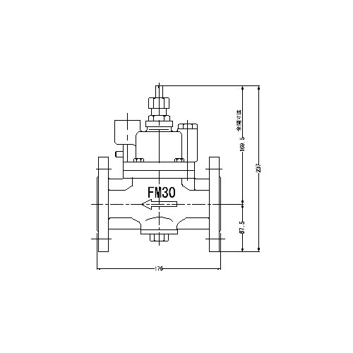 ☆☆FMバルブ S 3F型 30A FMバルブ製作所 FMバルブ 期間限定特別価格 取付タイプ フランジ型 本体材質:CAC901 S-3F型 ストレート型 正規品 定水位弁