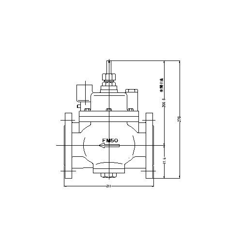 FMバルブ製作所【FMバルブ S-3F型 50A】(ストレート型) 定水位弁 取付タイプ(フランジ型) 本体材質:CAC901