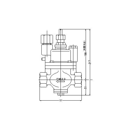 FMバルブ製作所【FMバルブ S-3K型 20A】(ストレート型) 定水位弁 コア内蔵タイプ 取付タイプ(ねじ込み型(Rc)) 本体材質:CAC901