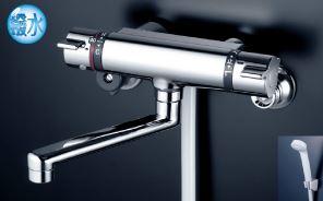KVK 水栓金具【KF800WTHS】サーモスタット式シャワー 撥水パワーサーモ 寒冷地