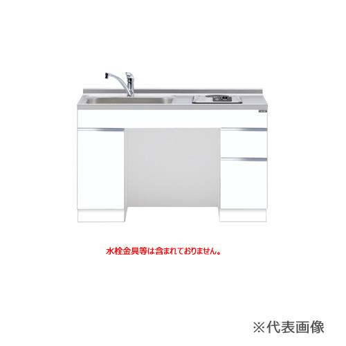 ###マイセット【M6-120DSAD】M6 ベーシック おばあちゃんの流し台 ベースキャビネット調理器具付セット (1口電熱ヒーター) 間口120cm