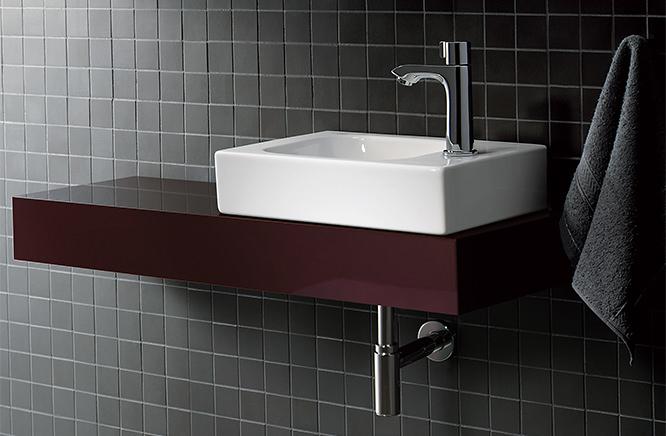 ■CERA/セラ 洗面・手洗【GB124736】アイコン (洗面器のみ) 手洗器 ホワイト 380×280 GEBERIT(ゲベリット)製 (旧品番 KE124736)