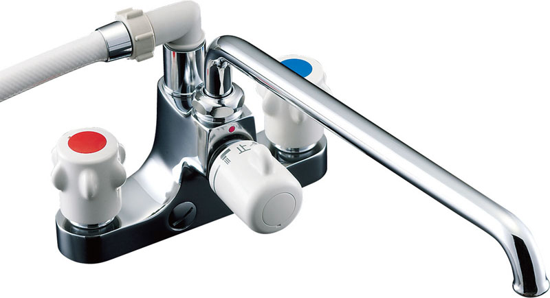 『カード対応OK!』πINAX 浴室用水栓金具【BF-M607H-GA】ミーティス 2ハンドルシャワーバス水栓 ホールインワン浴槽用 (一時止水付)