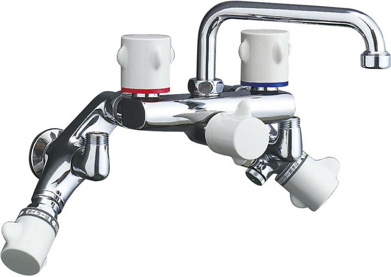『カード対応OK!』INAX 浴室用水栓金具【SF-M415HS】ミーティス 太陽熱温水器用2ハンドル混合水栓