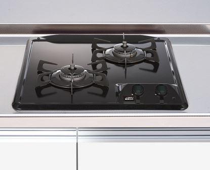 ###マイセット 関連器具【DC2016SQ1】調理器具 2口・グリル無しガスコンロ