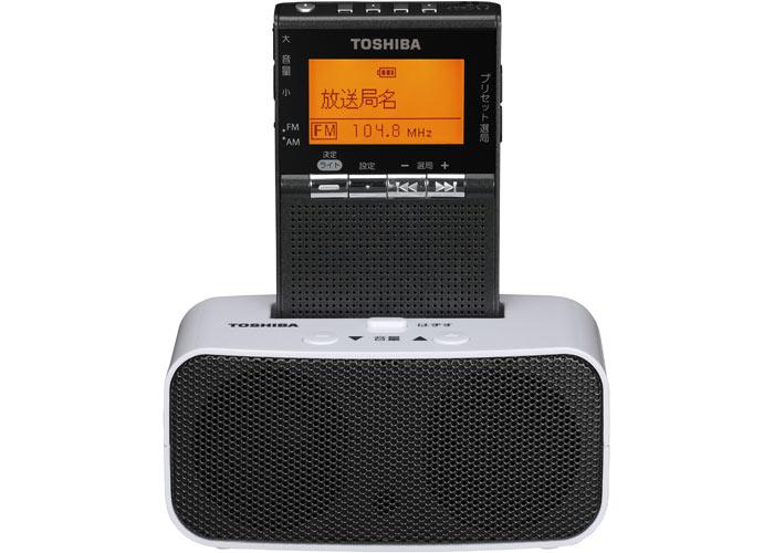 ω東芝 オーディオ【TY-SPR8(KM)】ガンメタリック FM/AM充電ラジオ