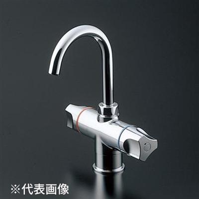 TOTO【TLS21-1EUZ】元止め式台付2ハンドル混合水栓(電器温水器用、寒冷地用)