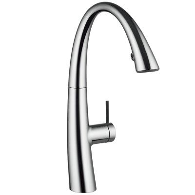 CERA/セラ【KW0201102R-127】デコールスティール キッチン用湯水混合栓 (スパウト引出しタイプ) ZOE (ゾエ)シリーズ