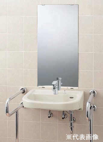 ▽###INAX/LIXIL 洗面器セット【L-365FCPR】車椅子対応洗面器 シングルレバー混合水栓 LF-WF340SC 壁給水・壁排水(Pトラップ) 受注生産