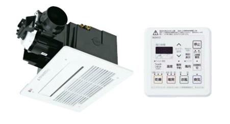 『カード対応OK!』ノーリツ 浴室暖房・乾燥【BDV-3306AUKNSC-J1-BL】天井カセット形 1室24時間換気タイプ コンパクト