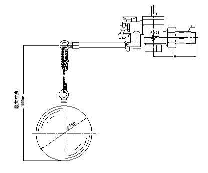 『カード対応OK!』FMバルブ製作所【FMボールタップ 3FB-SL型 25A】(水位調整可変式) 取付タイプ:ねじ込み型(R) 本体材質:CAC901