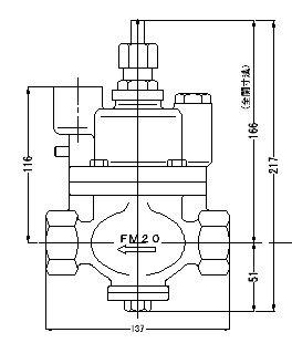 『カード対応OK!』FMバルブ製作所【FMバルブ S-3型 20A】(ストレート型) 取付タイプ:ねじ込み型(Rc) 本体材質:CAC901