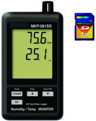 『カード対応OK!』###ωマザーツール【MHT-381SD】デジタル温湿度計