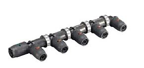 >π三栄水栓/SANEI【3DJ-P-HDL-8P】樹脂ヘッダー(末端エルボ)8P